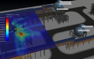 Mixing Risk Based Gas Mapping and Geographic Gas Mapping Image