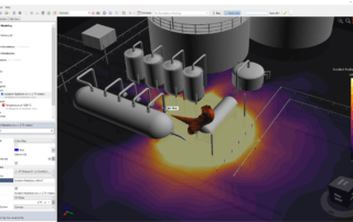Jet Fire CFD Simulation Fire Modeling Incident Radiation Contour